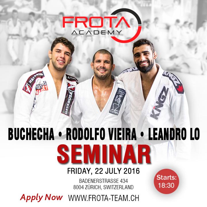 Rodolfo, Leandro and Marcus BJJ Seminar 2016