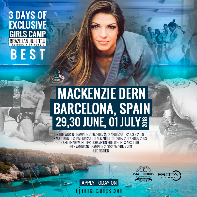 Barcelona Female BJJ Camp with Mackenzie Dern, 29 June – 1 July 2018