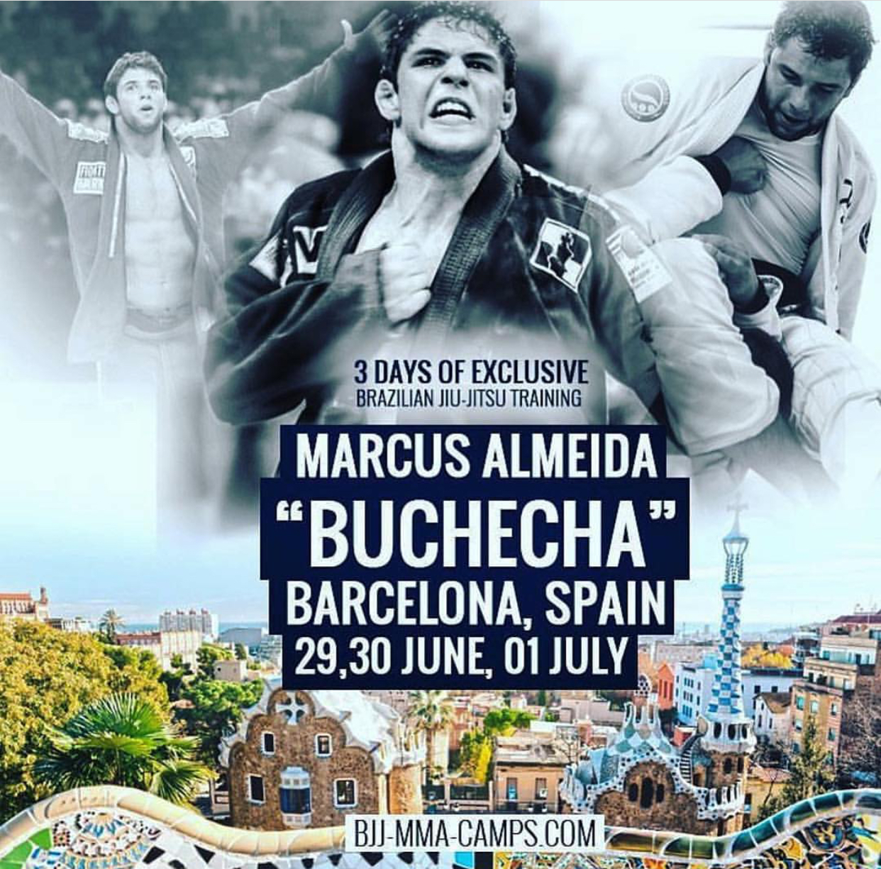 "Barcelona Male BJJ Camp with Marcus Almeida ""Buchehca"", 29 June – 1 July 2018"