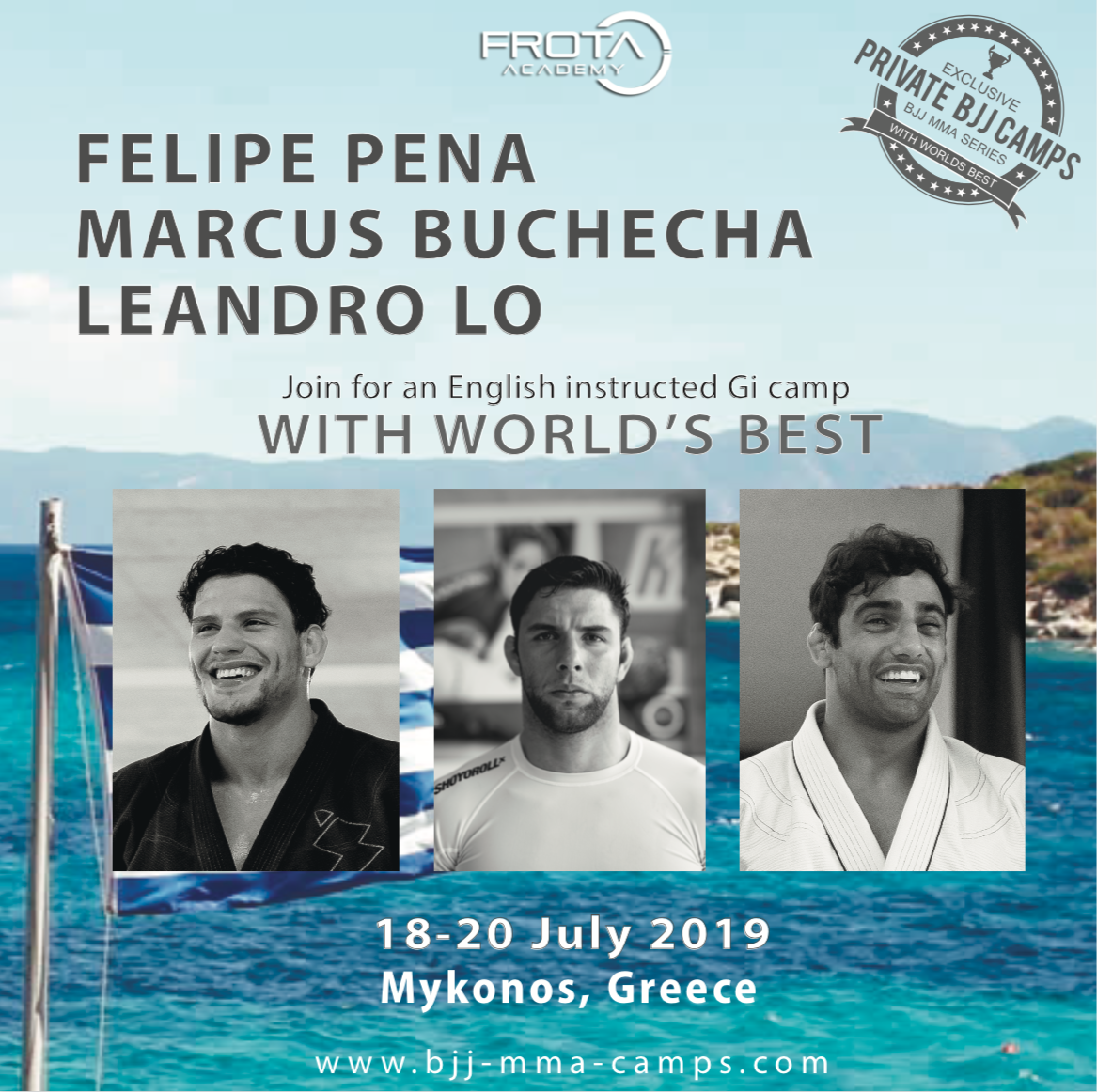BJJ CAMP With the World's Best on theGreece's